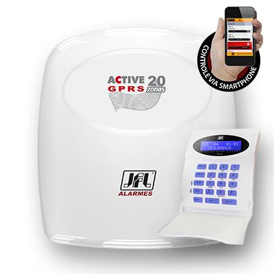 Central de Alarme Monitorável 22 Zonas Active 20 GPRS JFL