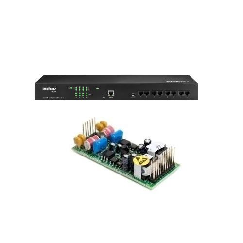 Kit PABX IP 50 Ramais Voip CIP 850 Gateway Com 2 Linhas Análogicas Intelbras