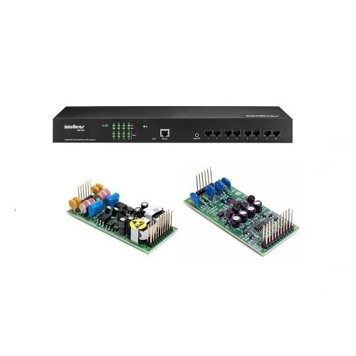 Kit PABX IP 50 Ramais Voip CIP 850 Gateway Com 2 Linhas e 2 Ramais Análogicos Intelbras