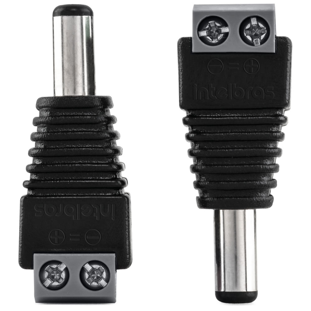 Conector P4 Borne Macho (Pcte 10pçs) CONEX 1000 Intelbras