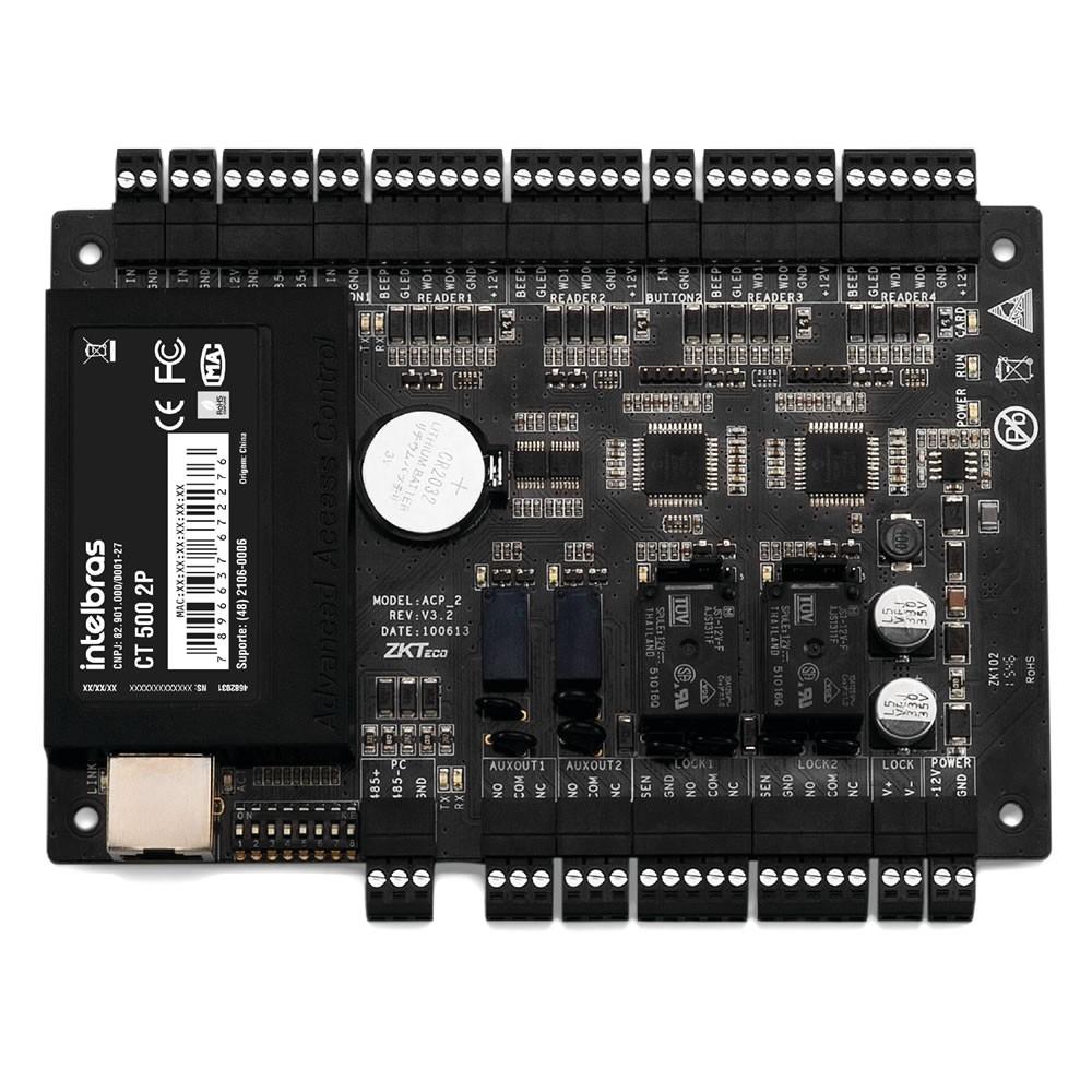 Controladora de Acesso para Leitor RFID e Senha CT 500 2P Intelbras