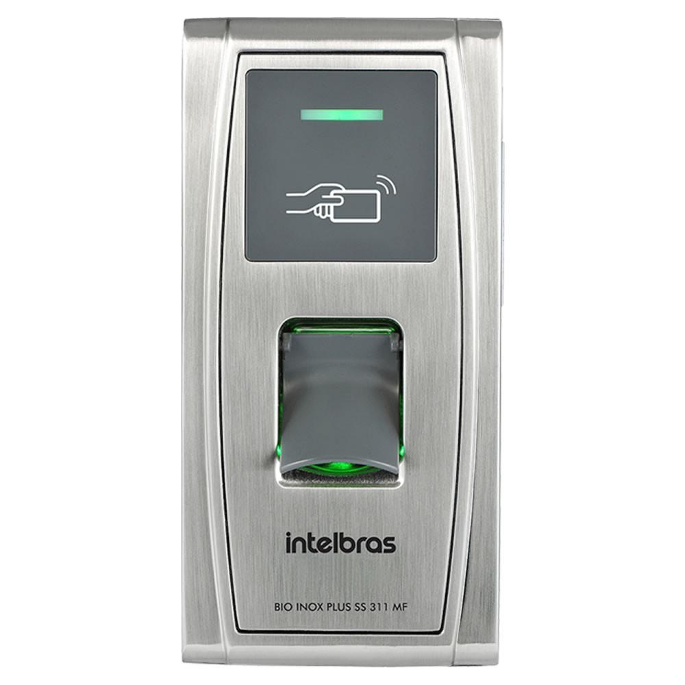 Controle de Acesso Biométrico e Aproximação 13,56 mHz Bio Inox Plus SS 311 MF - Automatiza / Intelbras