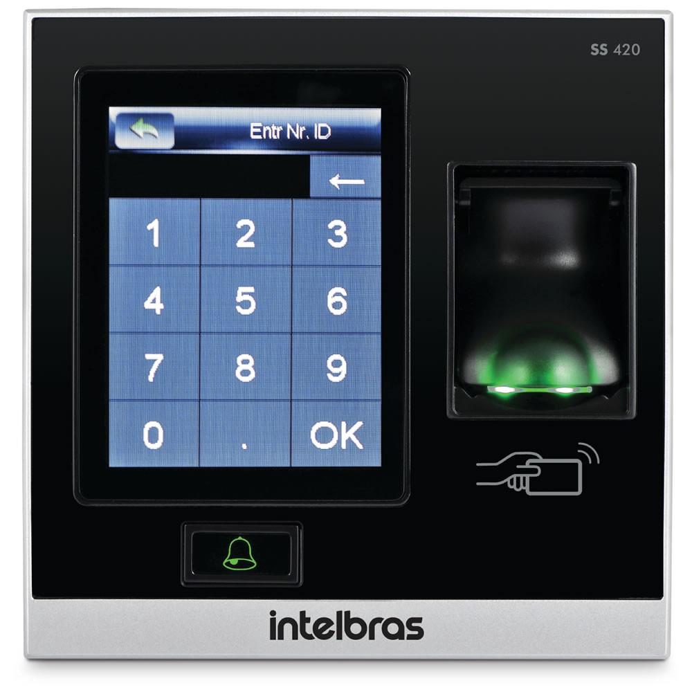Controle de Acesso Senha Cartão Biometria SS 420 Intelbras