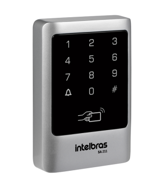 Controle de Acesso Touch Senha e Cartão SA 211 Intelbras