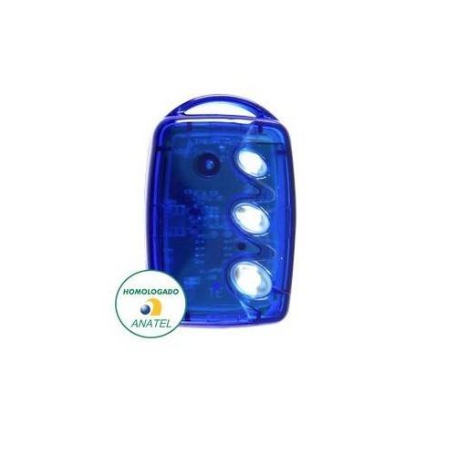 Controle Remoto 433 Mhz 3 Teclas TX3T-B Azul Linear