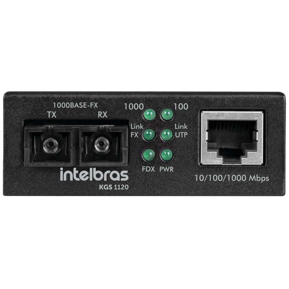 Conversor De Mídia Gigabit Monomodo 20 Km Intelbras KGS 1120