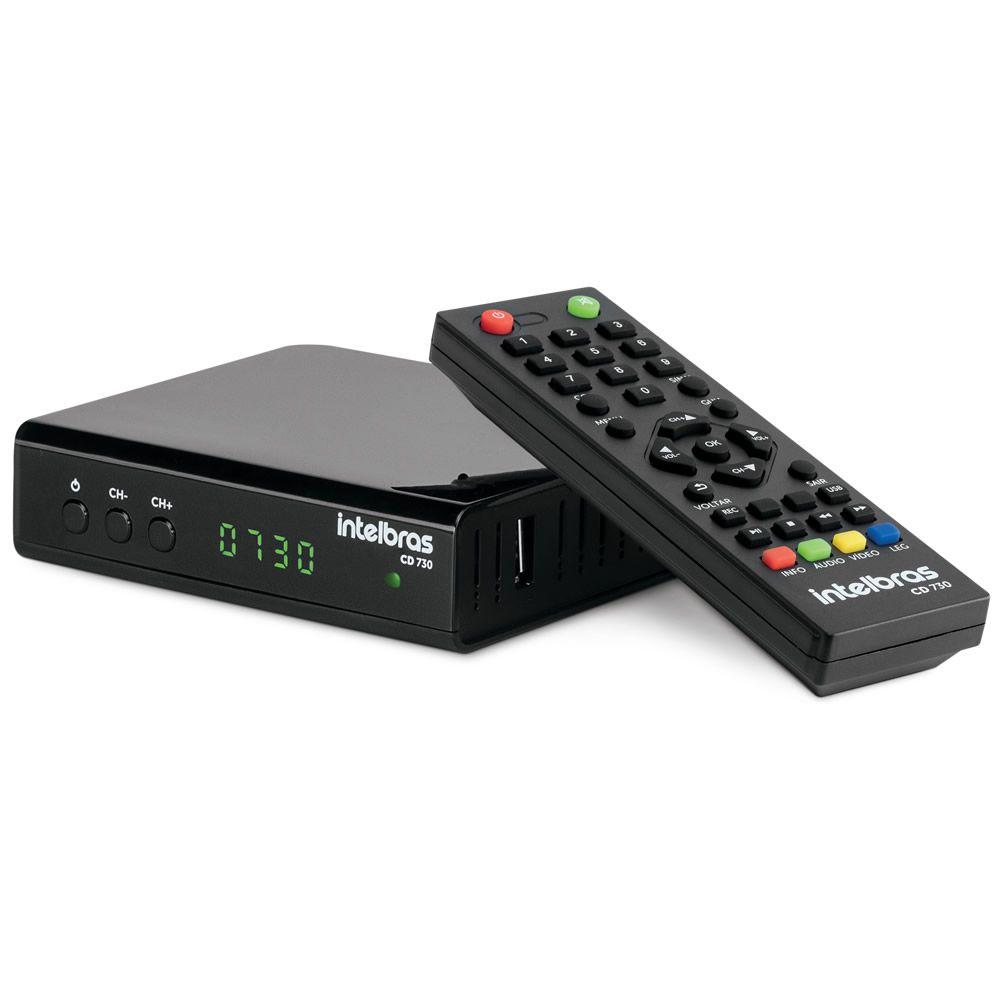 Conversor Digital De TV com Gravador HDMI USB RCA - CD 730 - Intelbras