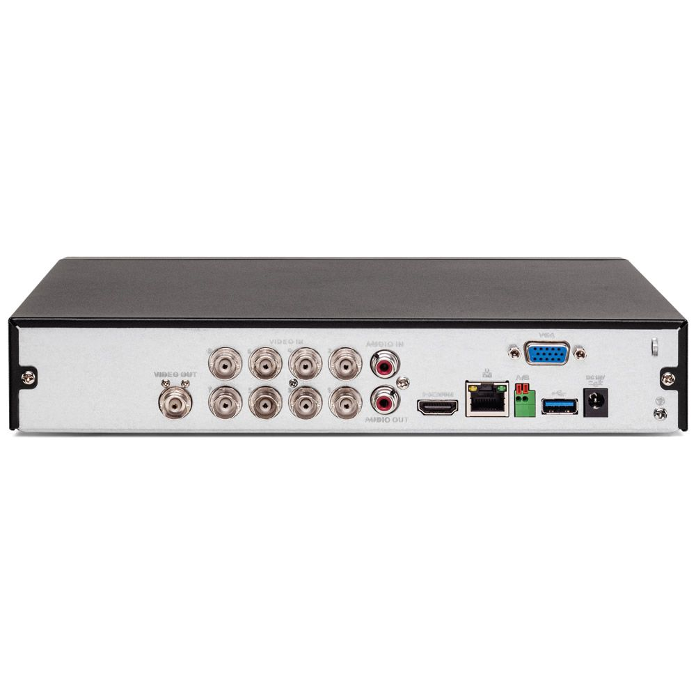 Gravador Digital Dvr 08 Canais Multi HD 4K 8 MP MHDX 5208 + HD 1 TB Purple Intelbras