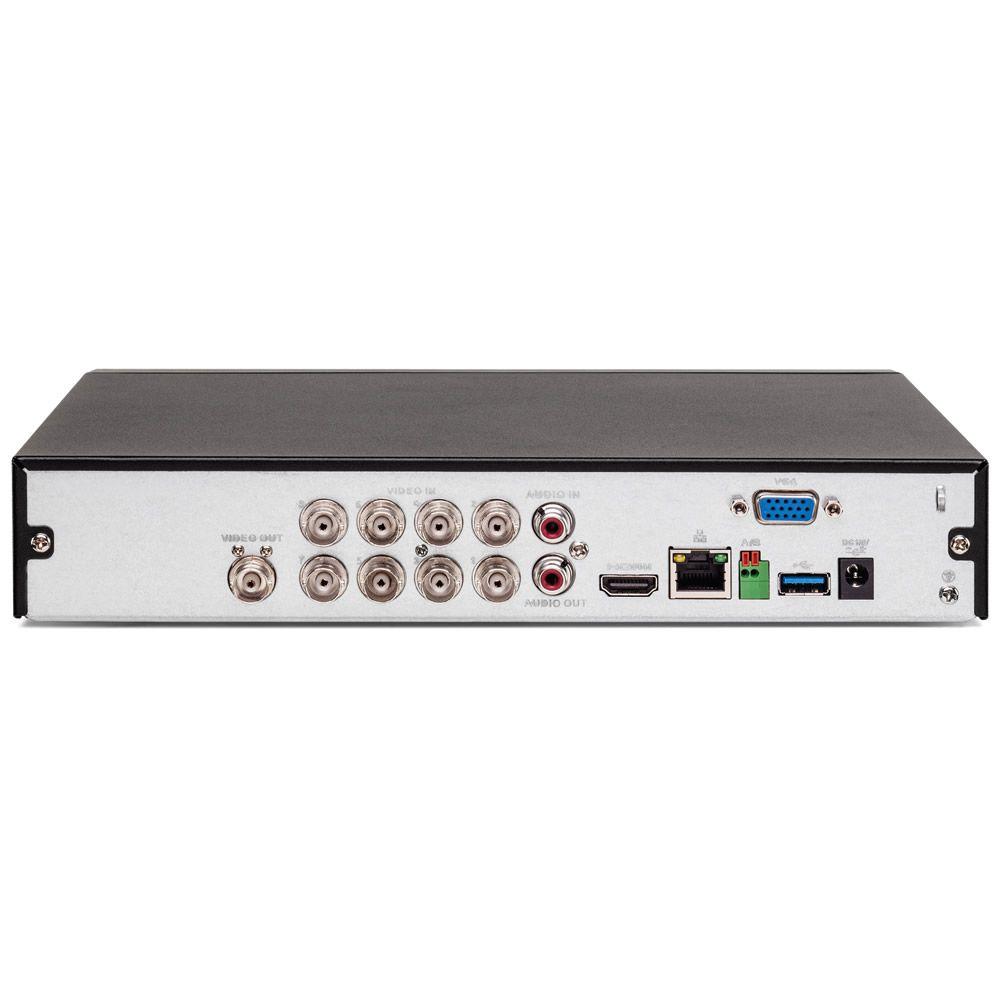 Gravador Digital Dvr 08 Canais Multi HD 4K 8 MP MHDX 5208 + HD 3 TB Purple Intelbras
