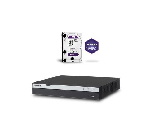 DVR Stand Alone 16 Canais Multi HD MHDX 3016 + HD 4TB Purple Intelbras