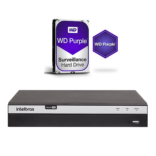 Dvr Stand Alone Multi HD 04 Canais 04 Megas LITE MHDX 3104 + HD 1 TB Purple Intelbras