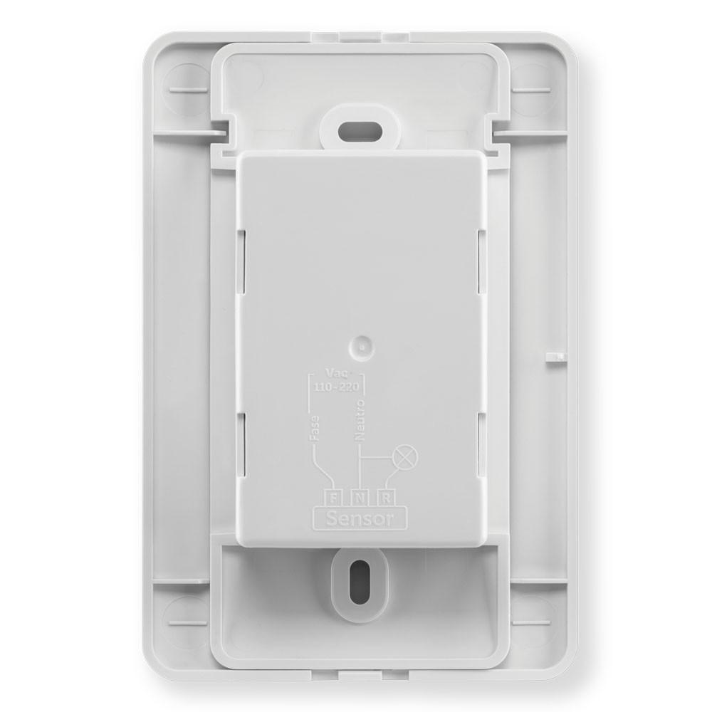 Sensor de Presença para Iluminação 120° Embutir 4x2 c/Interruptor ESPI 180 E+ Intelbras