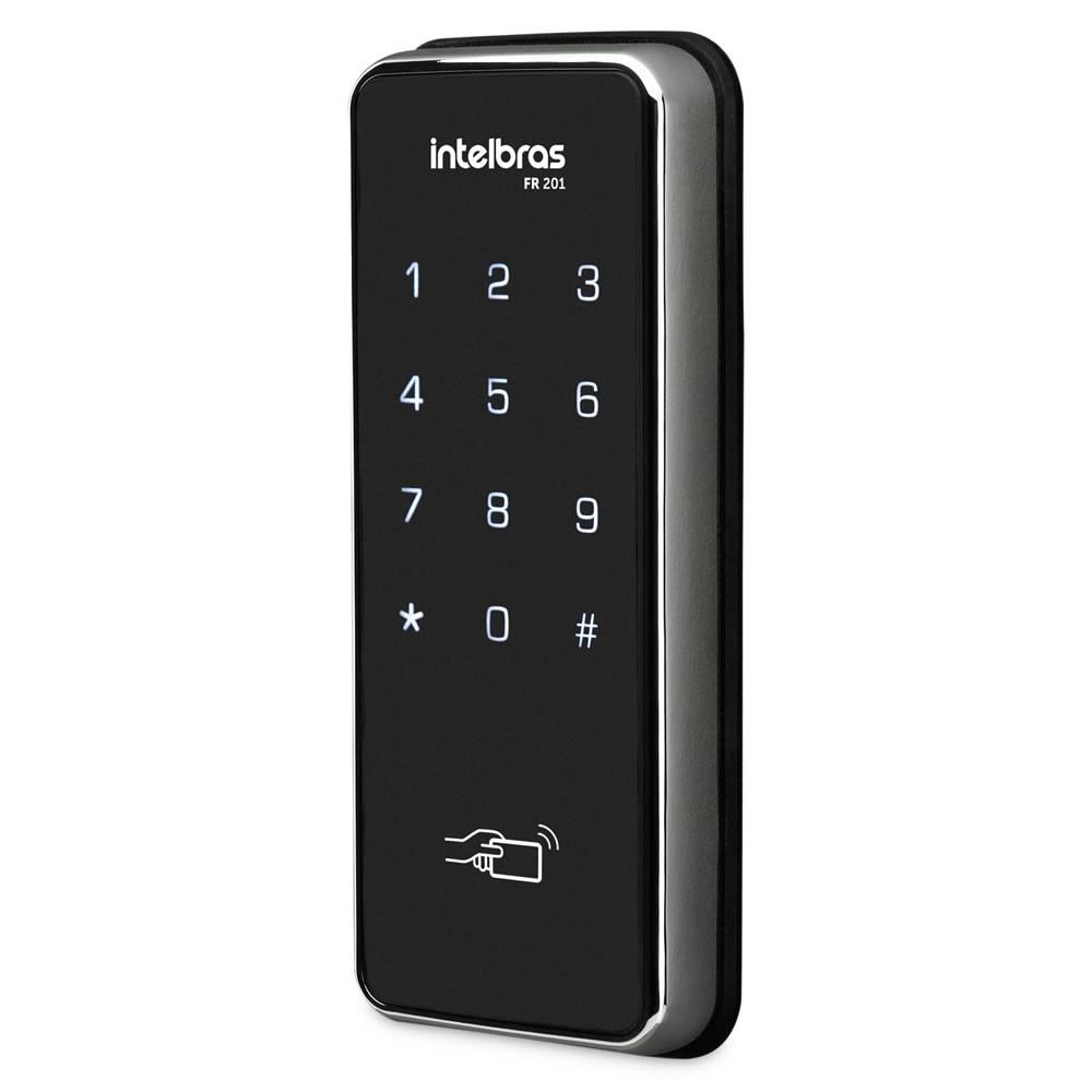 Fechadura Digital Com Senha Cartão Chaveiro FR 201 Intelbras