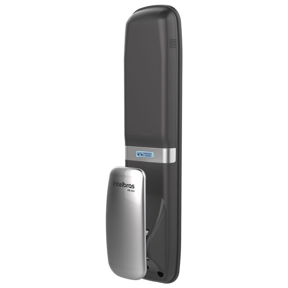 Fechadura Digital Sem Fio Com Biometria Senha Chaveiro Push & Pull  FR 630 Intelbras
