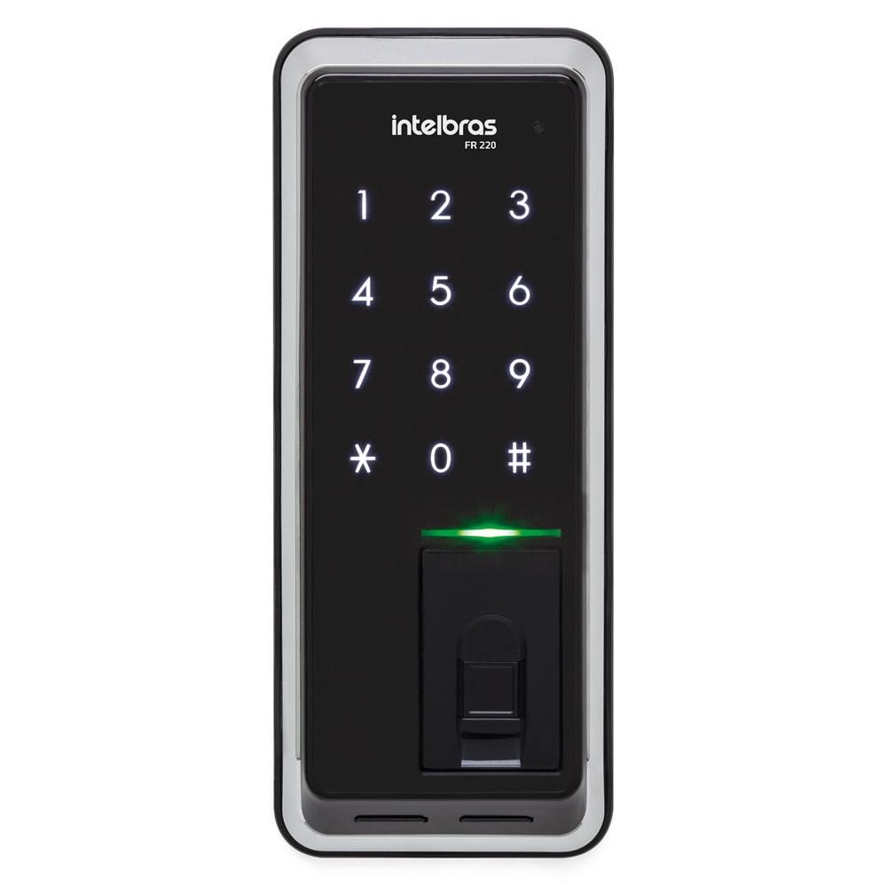 Fechadura Digital Sem fio De Biometria E Senha  Touch FR 220 Intelbras