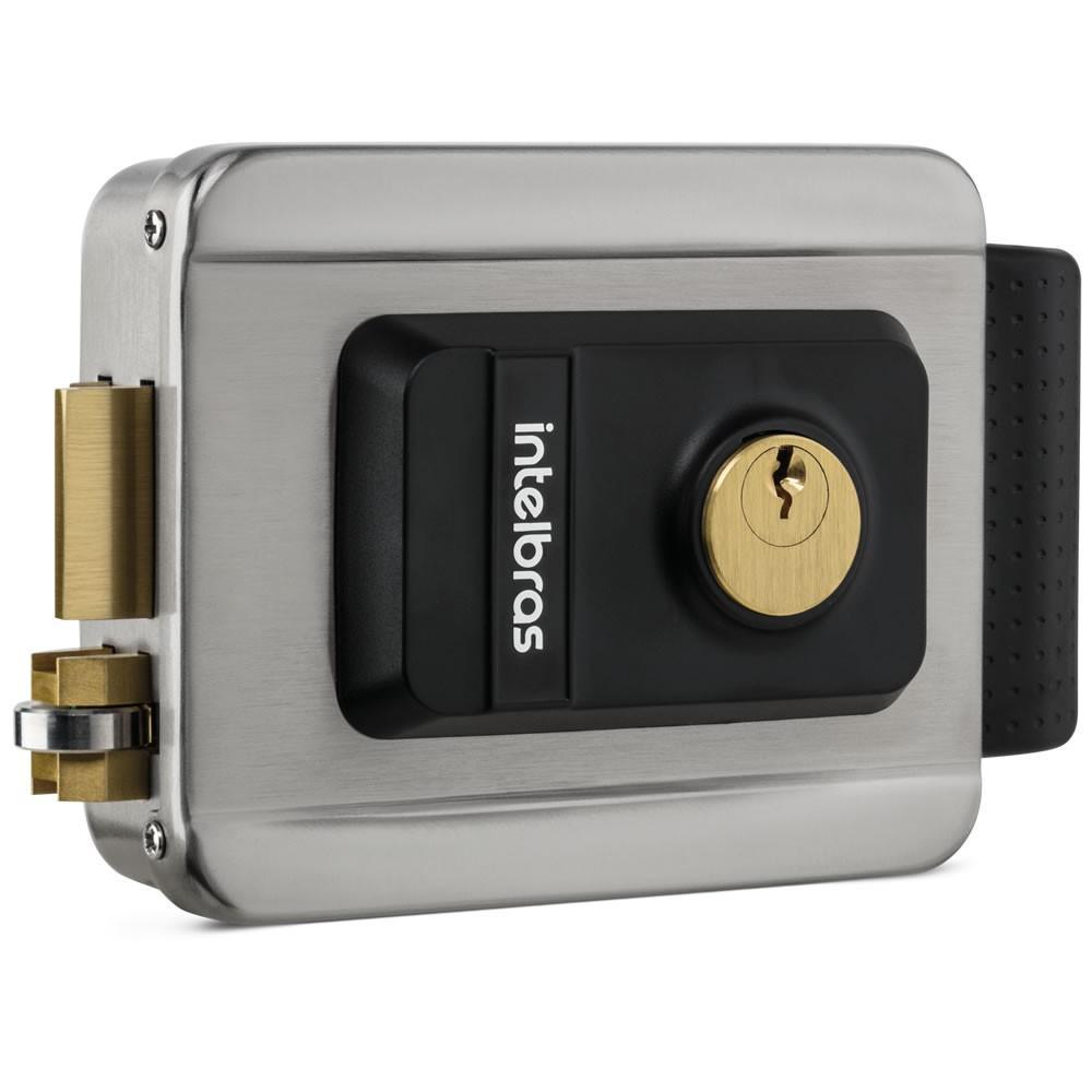 Fechadura Elétrica de Sobrepor Inox  FX 2000 Inox Intelbras
