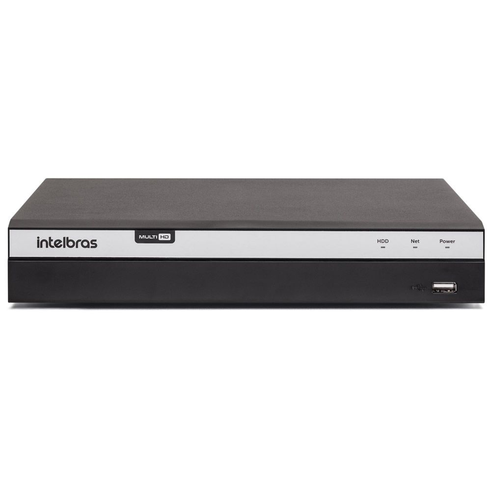 Gravador Digital Dvr 08 Canais Multi HD 4K 8 MP MHDX 5208 + HD 10 TB Purple Intelbras