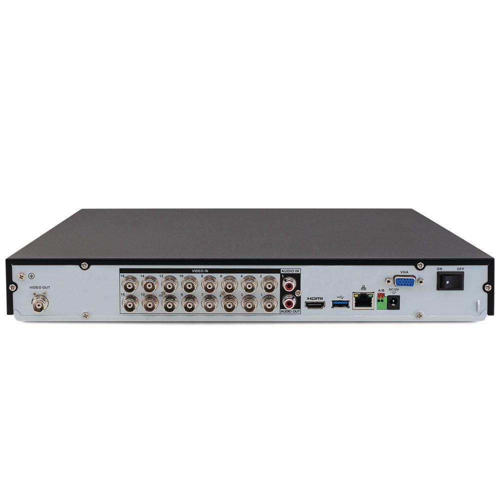 Gravador Digital DVR 16 Canais Multi HD 4K 8 MP Ultra HD MHDX 5216 + HD 3 TB Intelbras