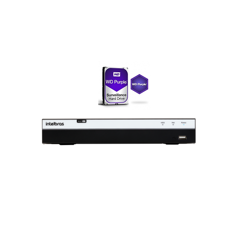 Dvr Stand Alone 4 Canais Multi HD MHDX 3004 + HD 1TB Western - Intelbras