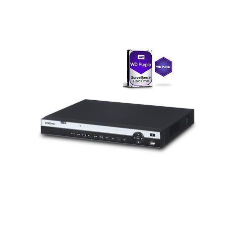 Dvr Stand Alone 16 Canais Multi HD MHDX 5016 + HD 4TB Western - Intelbras