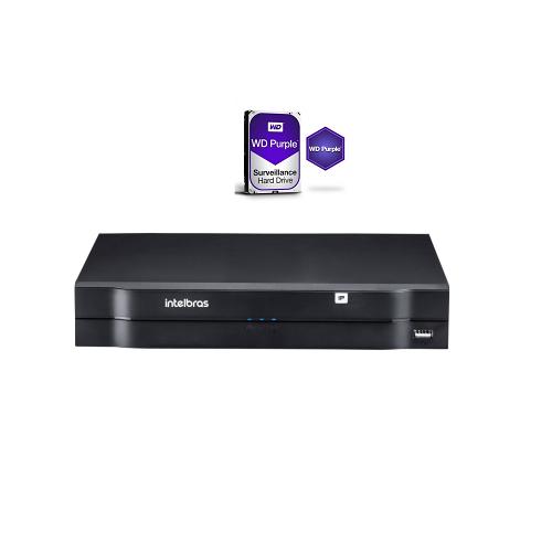 Kit Nvr 08 Canais IP PoE NVD 3108 P + HD 2TB Intelbras
