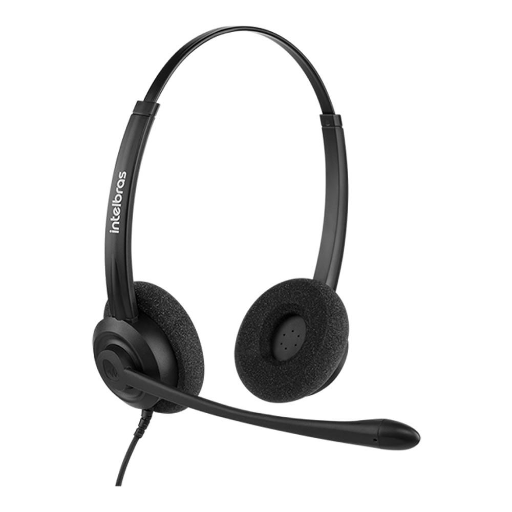Headset Corporativo Biauricular USB CHS 60B USB Intelbras