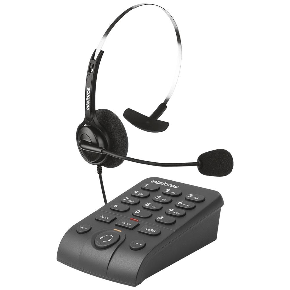 Telefone Headset Com Base Discadora HSB 40 Intelbras