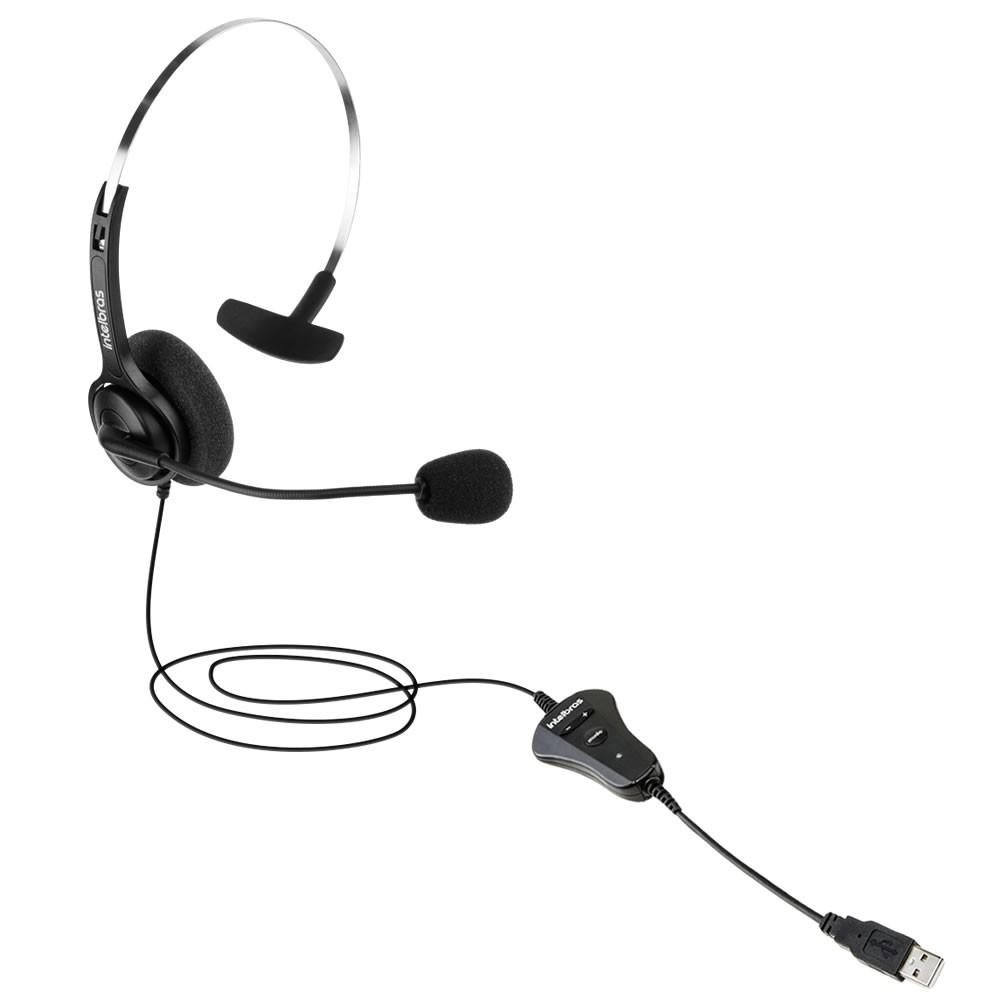 Headset Corporativo Mono USB CHS 40 USB Intelbras