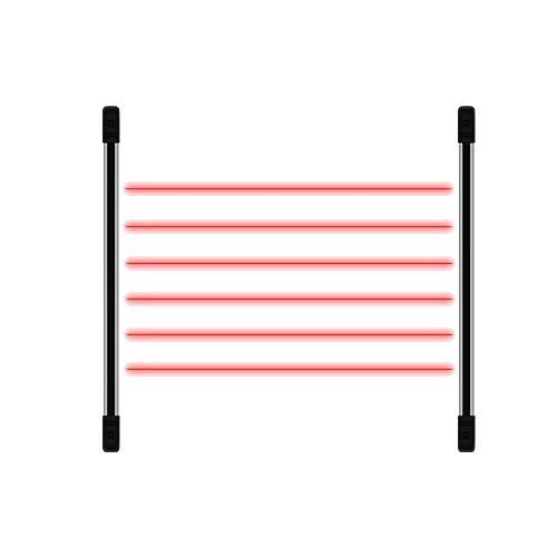 Sensor de Barreira Ativo Tipo Cerca Virtual 6 feixes 100m IRB 610 JFL