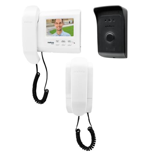 Kit Video Porteiro Color 4,3'  IVR 1010 + 1 Extensão Audio 1010EA Intelbras