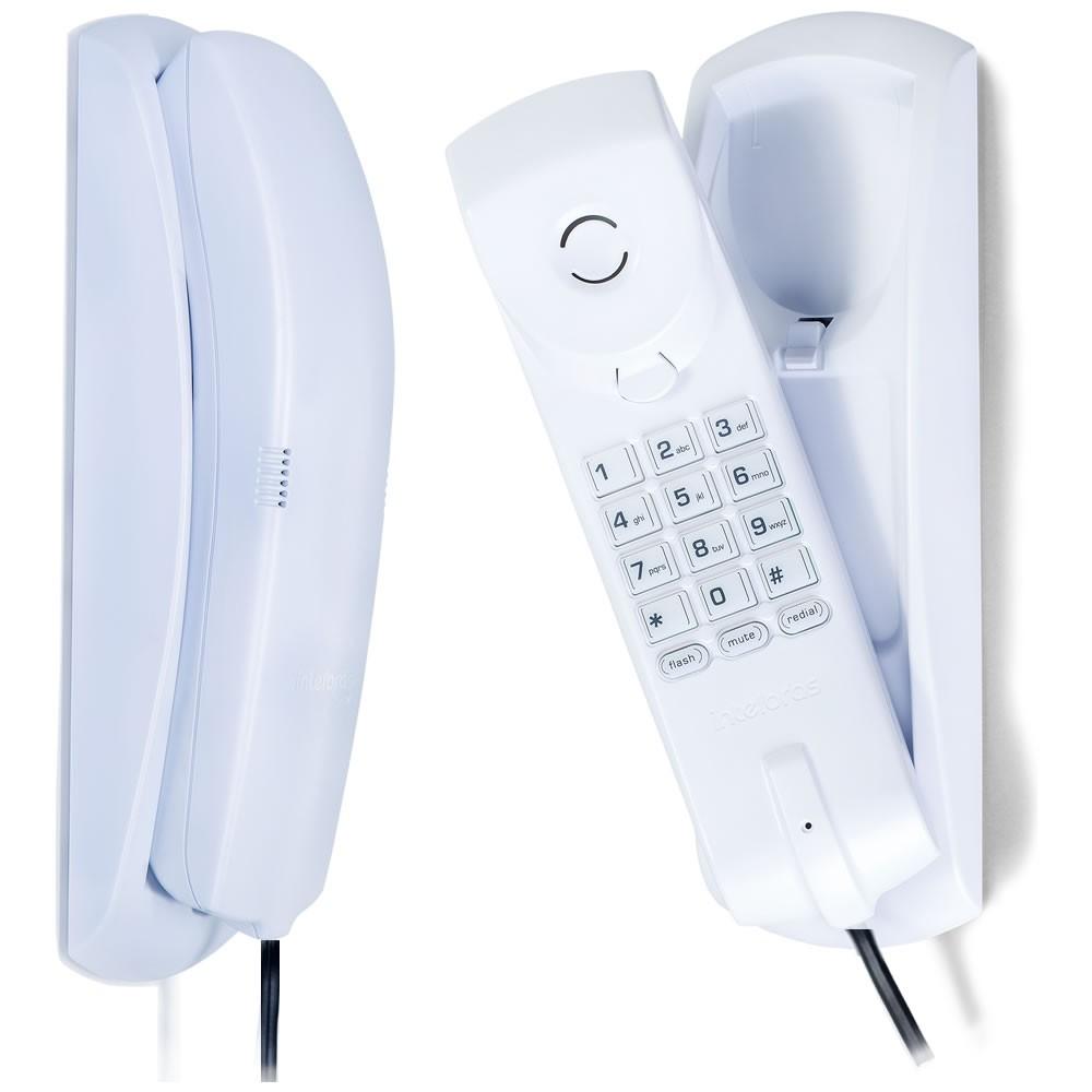 Kit 02 Telefones Com Fio Gôndola TC 20 Branco Intelbras
