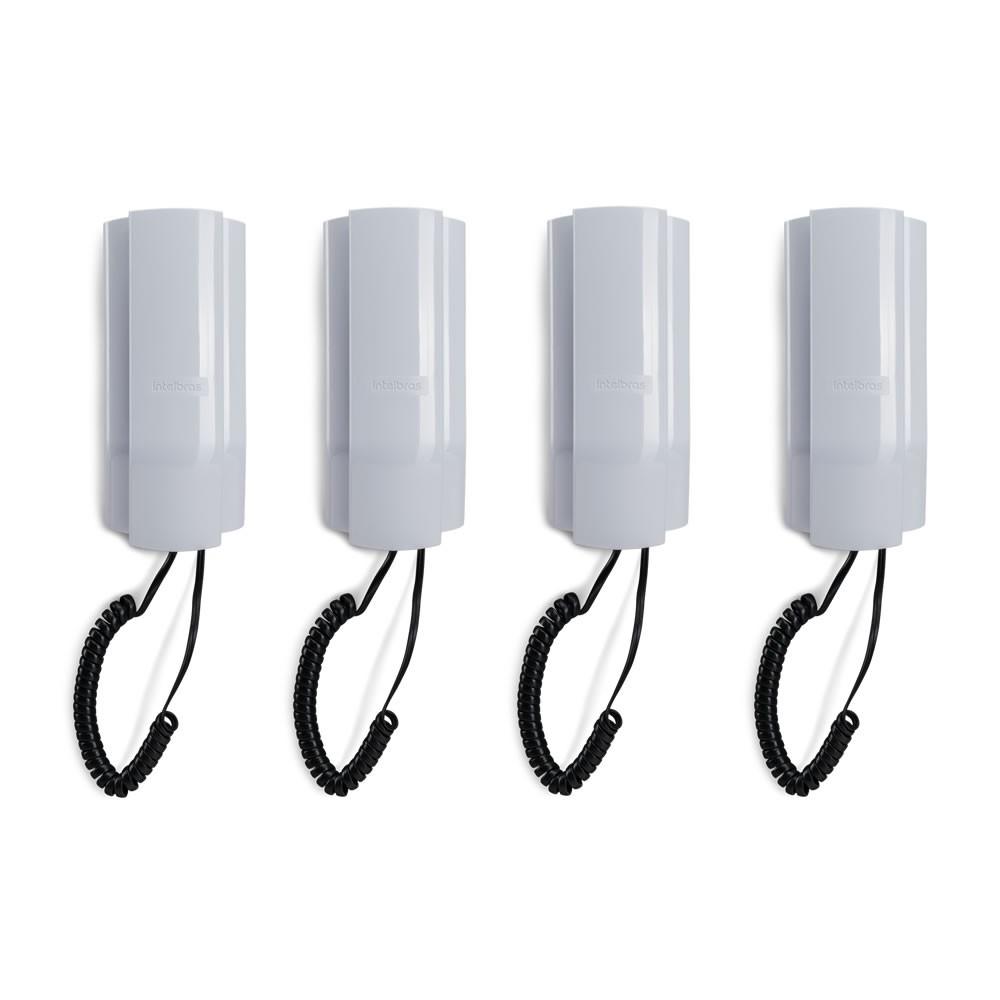 Kit 04 Telefones Com Fio Condominial TDMI 300 Intelbras