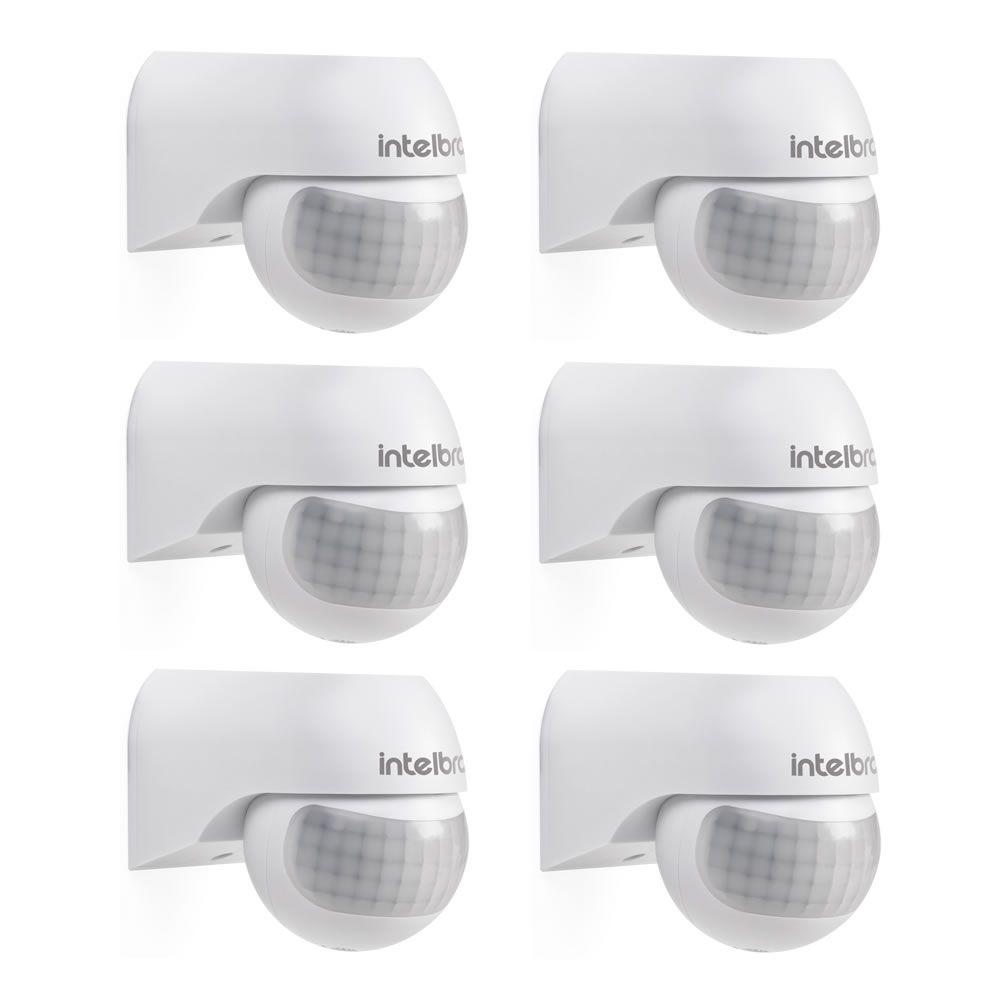 Kit 06 Sensores De Presença De Parede 180° Fotocélula ESP 180 Intelbras