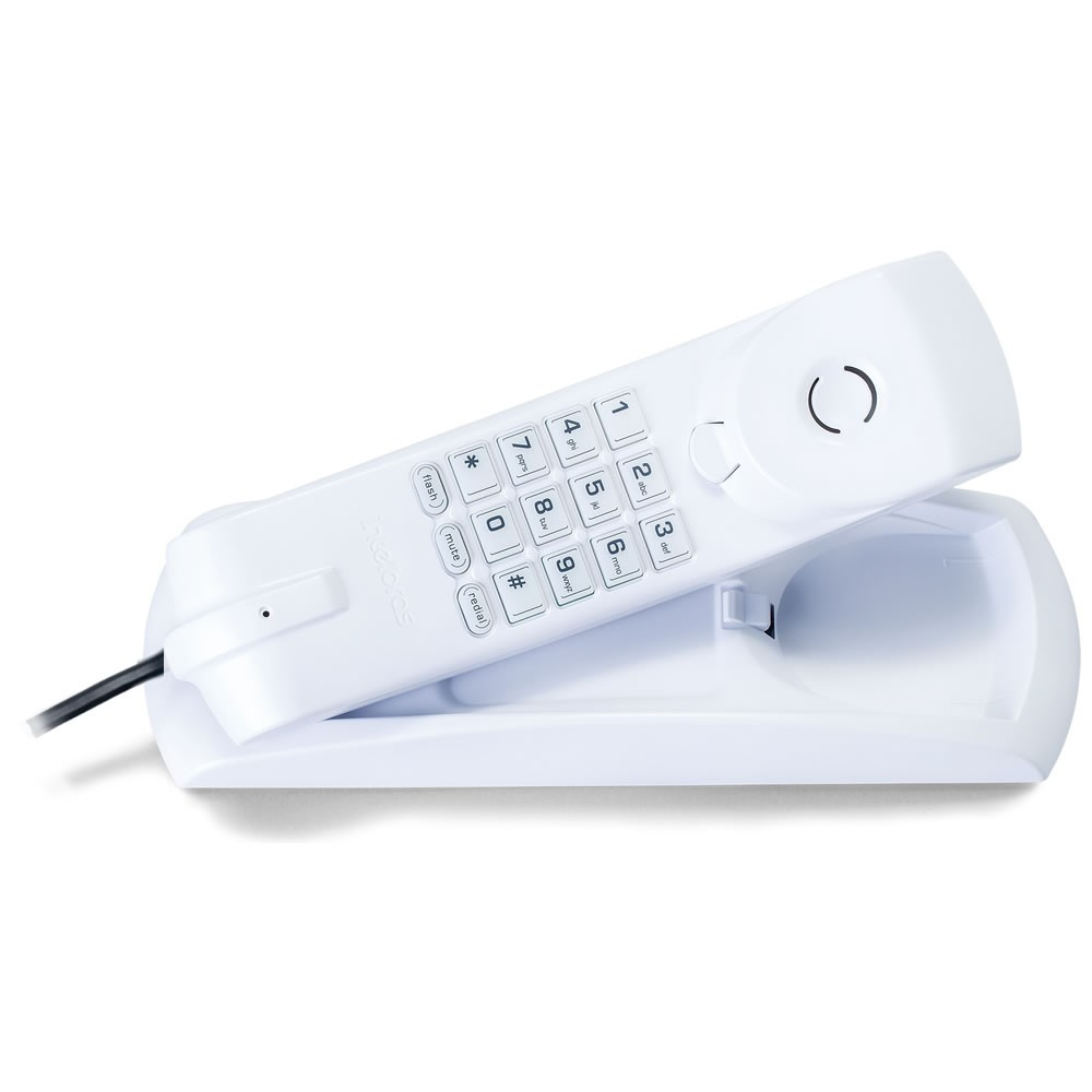 Kit 08 Telefones Com Fio Gôndola TC 20 Branco Intelbras