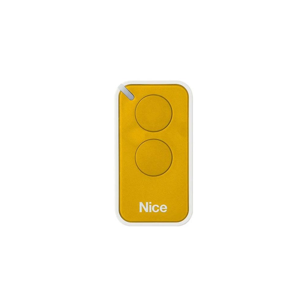 Kit 10 Controle Remoto 433,92 MHz Rolling Code 2 Botões Era Inti Amarelo Linear HCS - Nice