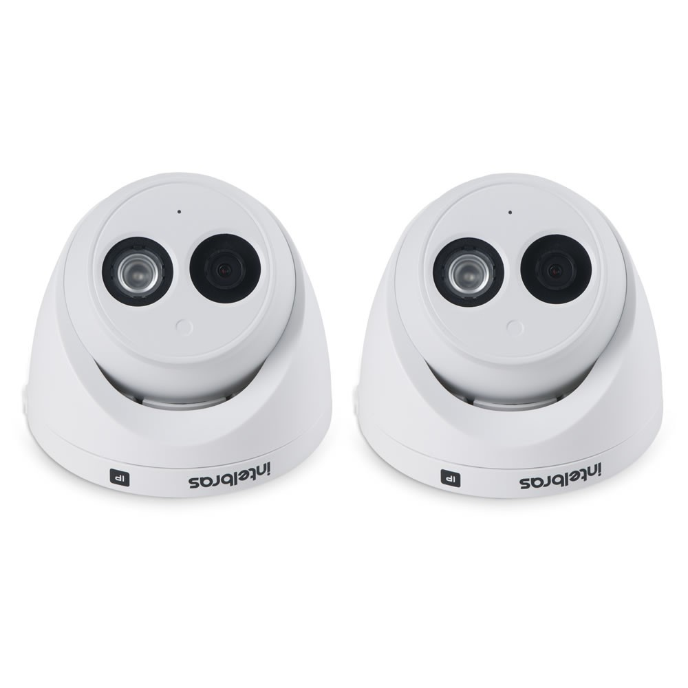 Kit 2 Câmeras IP 2.0 Megapixels 50m Microfone Embutido VIP 3250 MIC Intelbras