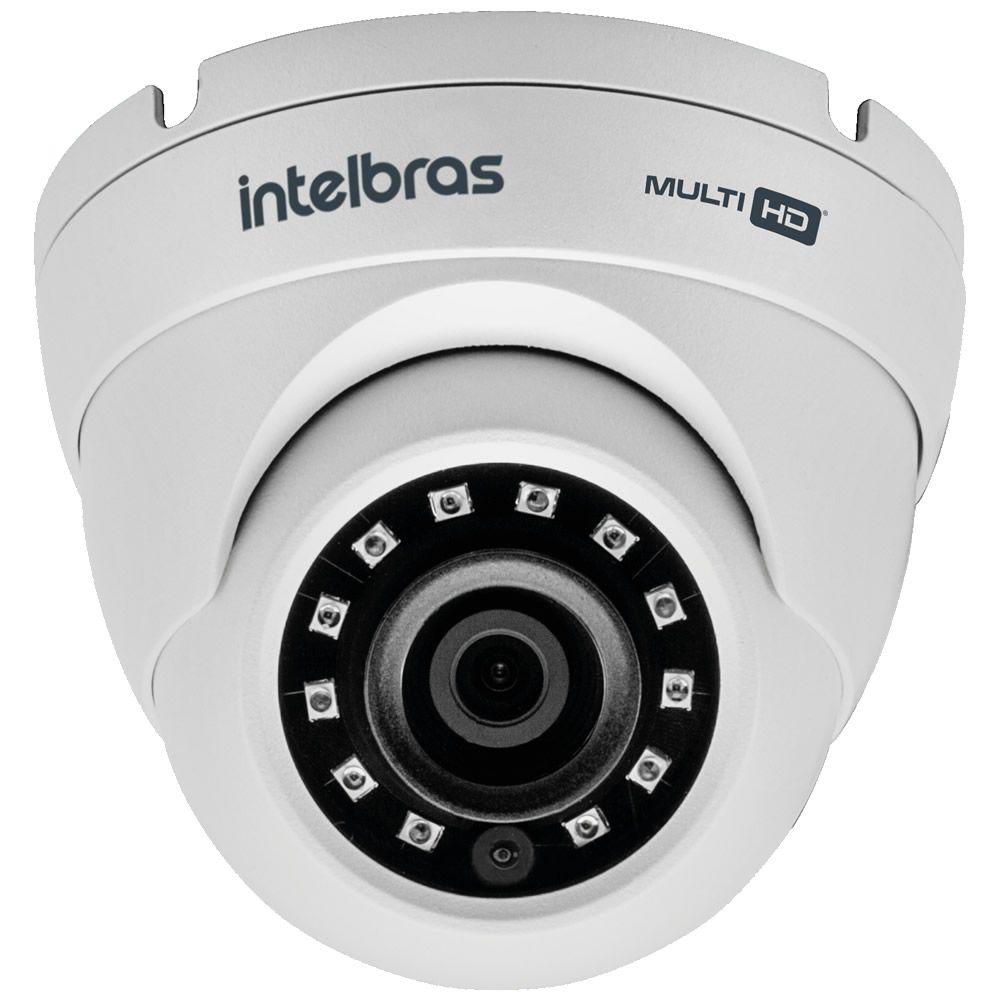 Kit 2 Câmeras Multi HD 2 Megapixels Com Entrada Para Microfone 2.8mm 20m VHD 3220 D A G4.0 Intelbras