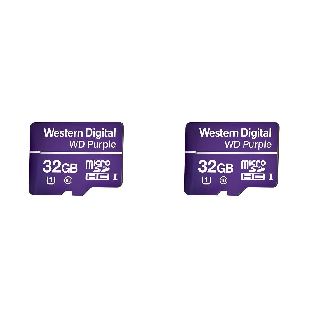 Kit 2 Cartão de Memória 32 GB Micro SD WD Purple Intelbras