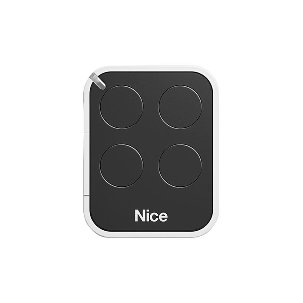Kit 2 Controle Remoto 433,92 MHz Rolling Code 4 Botões Era One Preto Linear HCS - Nice