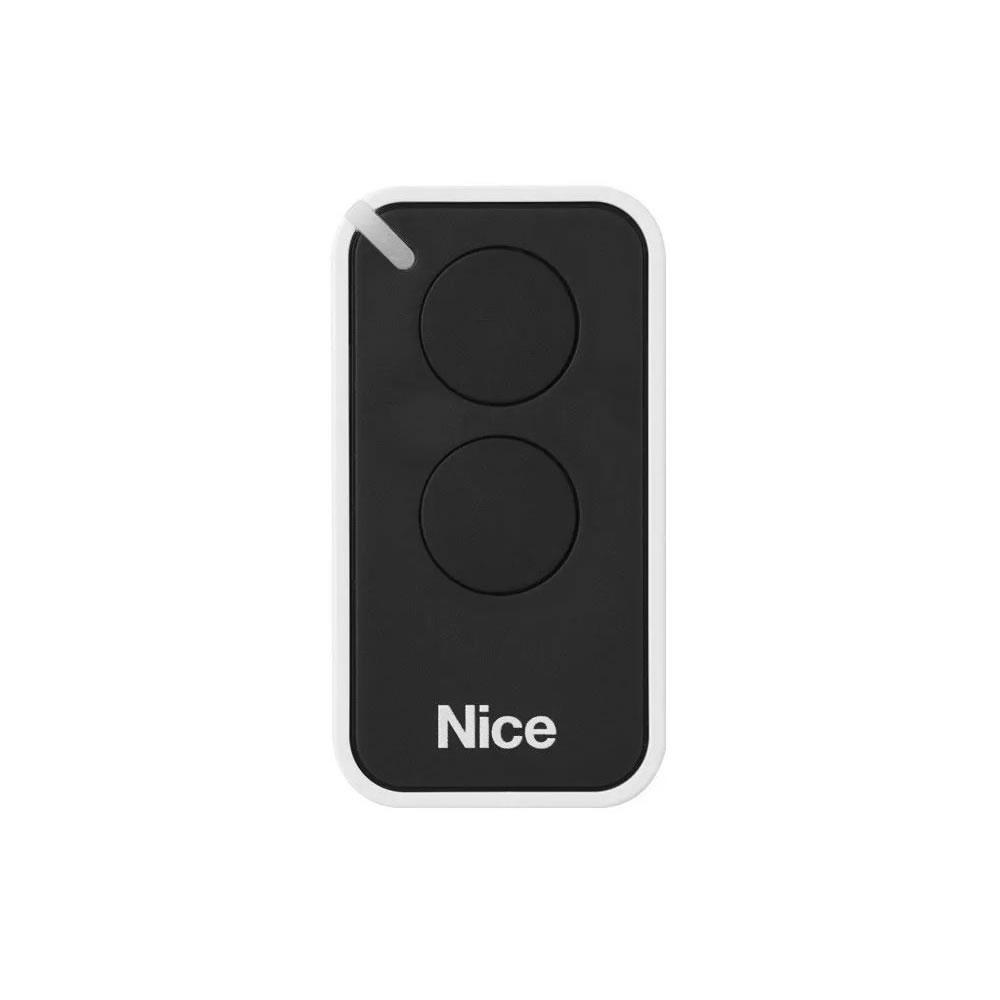 Kit 2 Controle Remoto 433,92 MHz Rolling Code 2 Botões Era Inti Preto Linear HCS - Nice