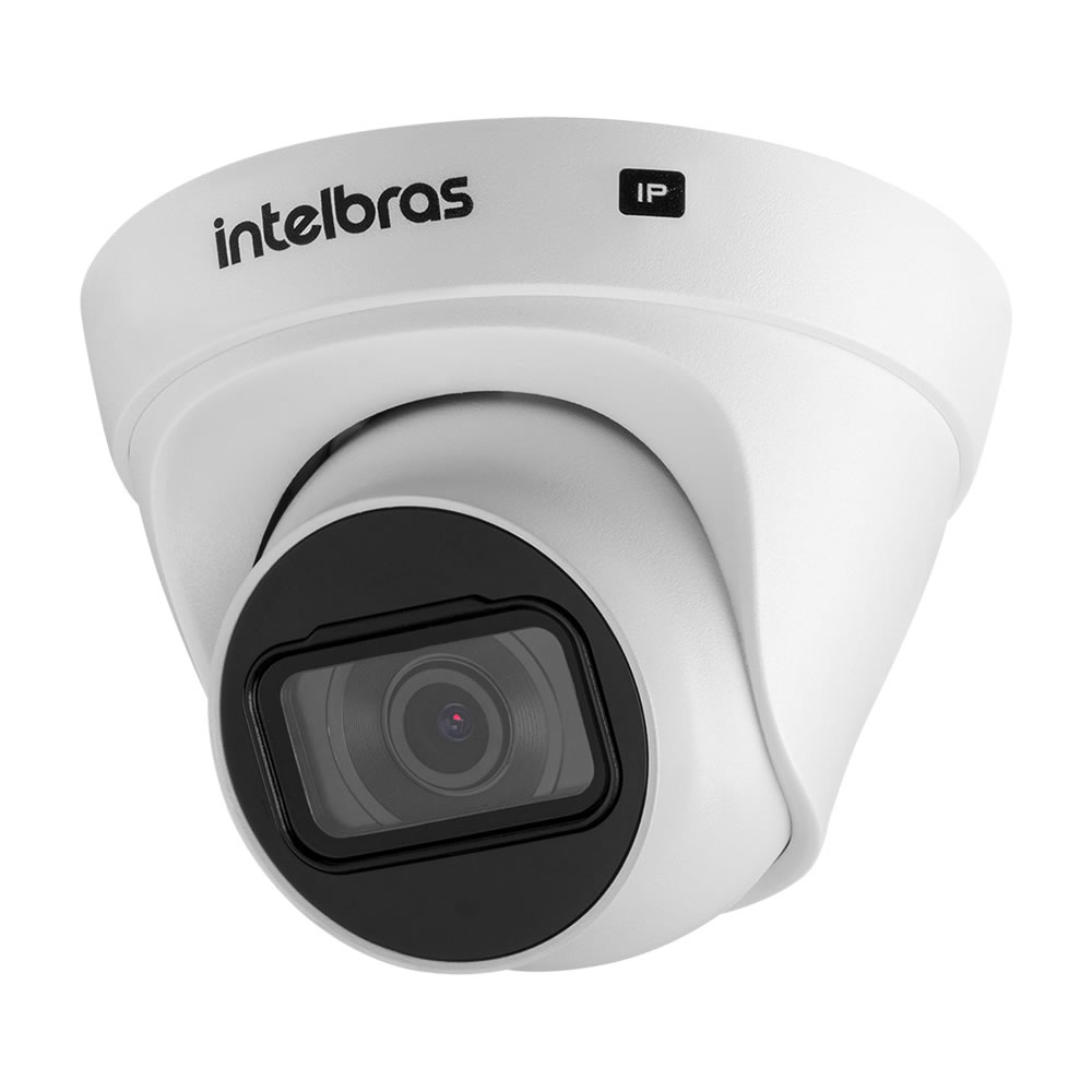 Kit 3 Câmeras IP 4 Megapixels 2.8mm 30m Inteligência de Vídeo VIP 1430 D Intelbras