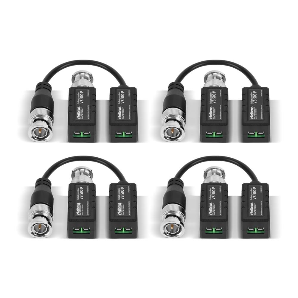 Kit 4 Baluns Passivo Multi HD Para Câmeras 4K Ultra HD VB 500 P Intelbras