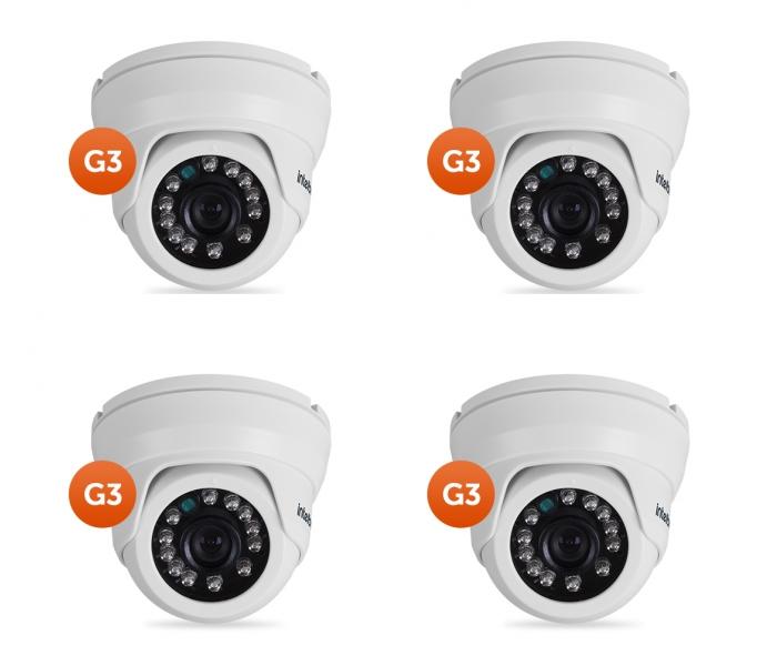 Kit 4 Câmeras AHD ou 900 Linhas 10m VMD 1010 IR G3 Intelbras