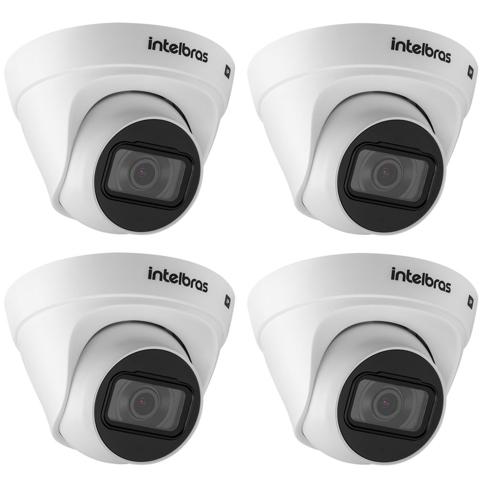 Kit 4 Câmeras IP 2 Megapixels 2.8mm 20m VIP 3220 D Intelbras