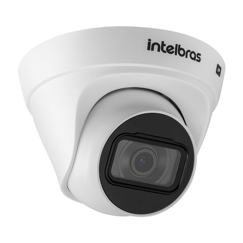 Kit 4 Câmeras IP 4 Megapixels 2.8mm 30m Inteligência de Vídeo VIP 1430 D Intelbras