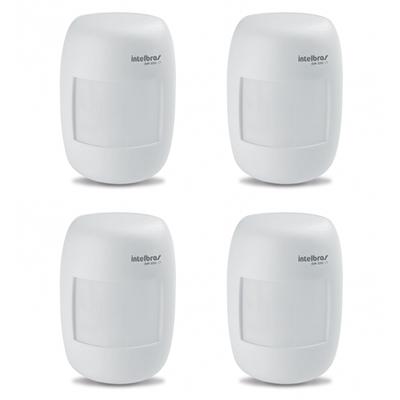 Kit 4 Sensores Alarme Passivo Com Fio IVP 3000 CF Intelbras
