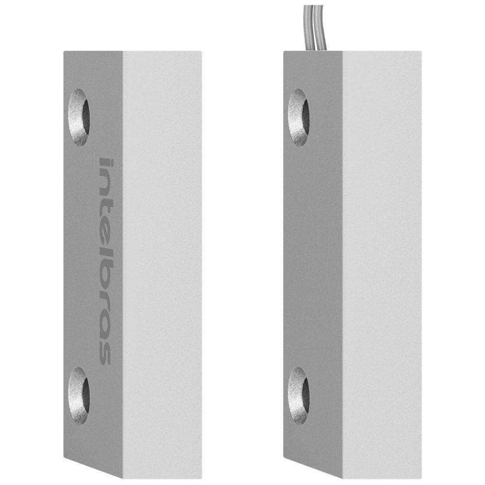 Kit 4 Sensores Magnético Com Fio Xas Porta de Aço Mini Intelbras