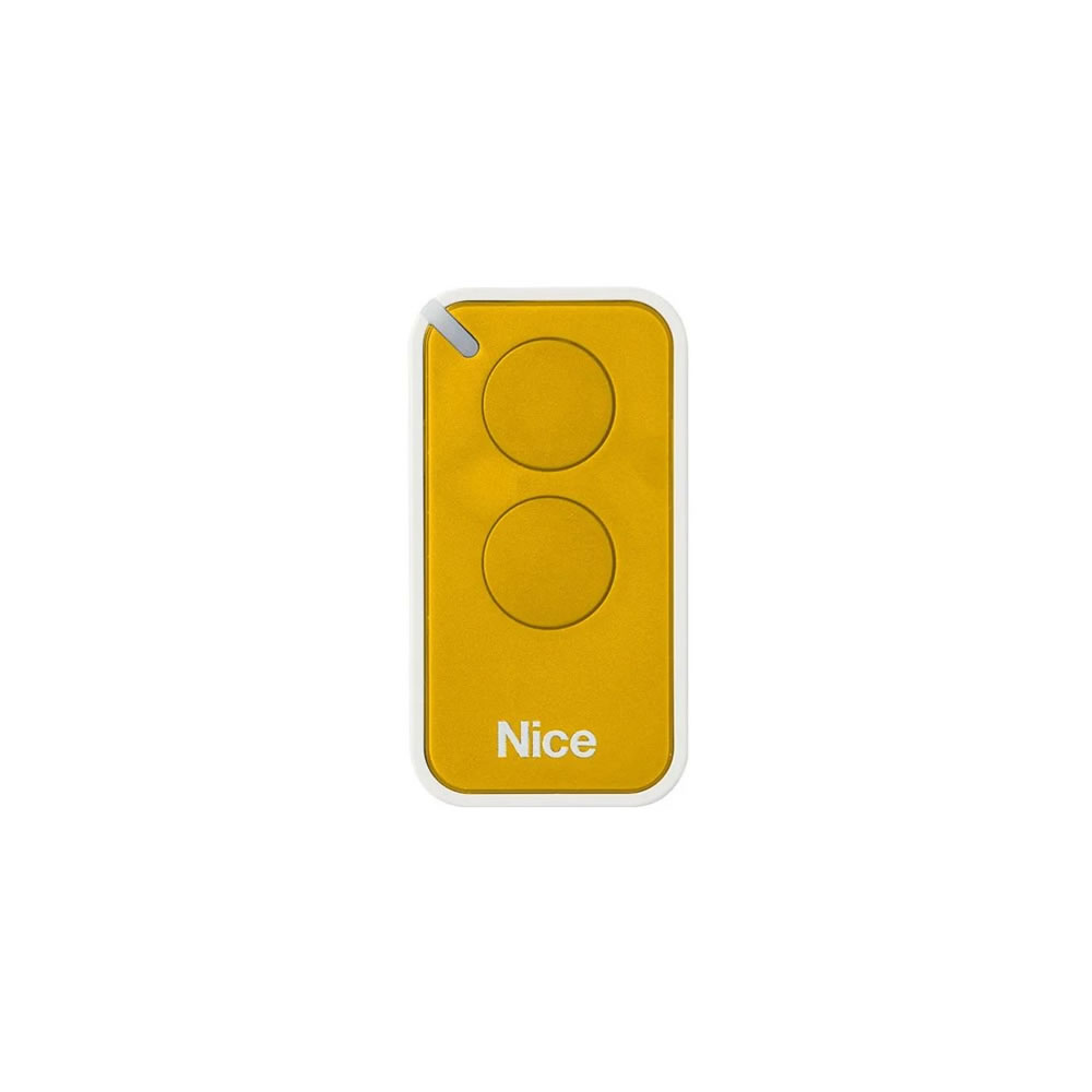 Kit 5 Controle Remoto 433,92 MHz Rolling Code 2 Botões Era Inti Amarelo Linear HCS - Nice
