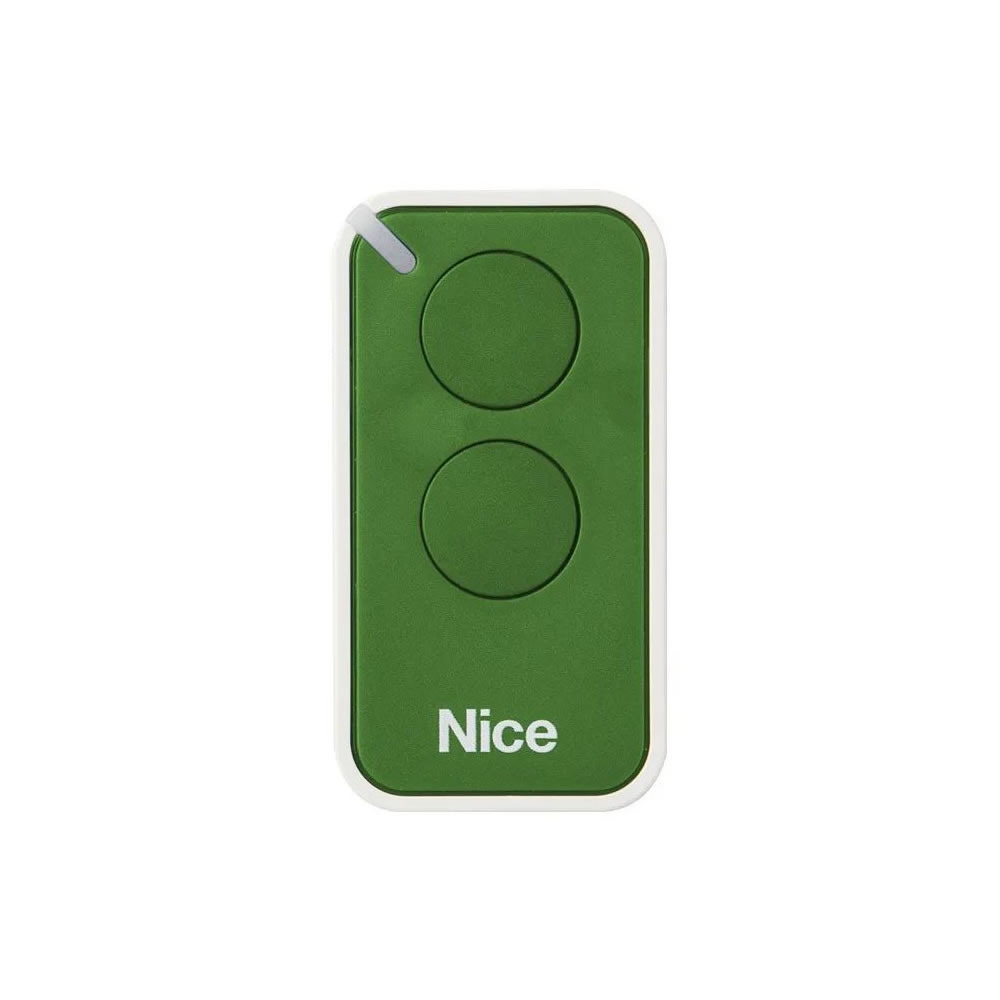 Kit 5 Controle Remoto 433,92 MHz Rolling Code 2 Botões Era Inti Verde Linear HCS - Nice