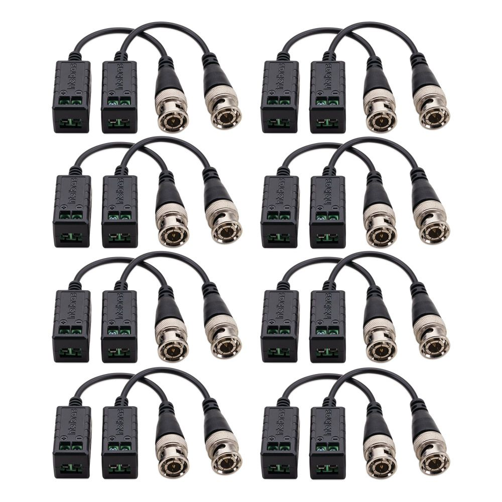 Kit 8 Baluns Passivo Multi HD Para Câmeras 4K Ultra HD VB 501 P Intelbras